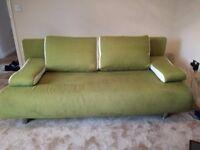 Fabric sofa bed + storage