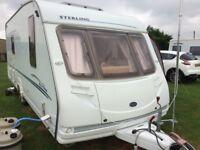 4 berth fixed bed caravan 2004