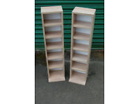 DVD Tower / CD rack / Small shelving unit / Beech color