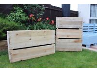 Wooden Plant Pots for sale/ Planters - Made from Pallets - Ready for planting