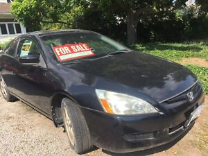 2003 Honda Accord coupe black 90000km