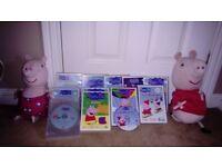 PEPPA PIG TEDDIES AND DVDS
