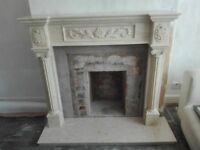 Beautiful Marble Fire Surround and Base