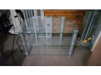 GLASS/ALLOY TV STAND