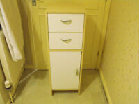 small bathroom cabinet in wood effect