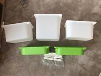 Ikea trofast storage boxes (new)