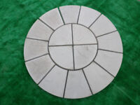 1 MTR Patio Circle Rotunda Natural Grey