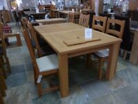 Large Solid Oak 6 - 8 Person Dining Table with Chairs | Extendable | RRP £1650