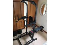 Home Workout Station+ barbell 60kg weights