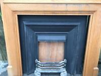 Fire place and insert