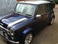 Classic Mini Cooper Sport 1.3. Very clean, low mileage, tahiti blue, silver/black interior