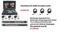 Blackmagic Hyperdeck Pro2 Blackmagic Design Hyperdeck Studio Pro 2, Advanced SSD Recorder