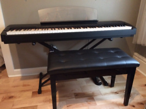 Digital Piano Yamaha P155 + Pedal + Piano Bench (Black)