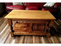 Small; Solid Oak Old Charm coffee table