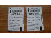 ****Thorpe Park tickets ****