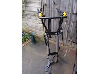 Car bicycle rack (1 or 2 bikes) only suitable for a car etc.. with a tow bar and ball