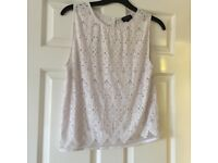 ladies white topshop vest top