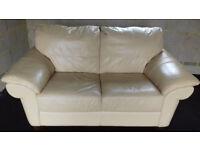 Beige leather sofa £50