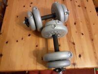 York 15kg Dumbbell Weight Set