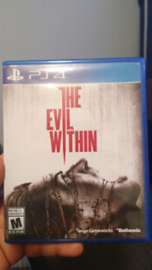 The evil within ps4 $25 OBO