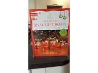 Sisal Gift Boxes (3 Light Up)