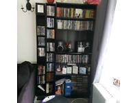 Bookcase with 2 DVD shelves