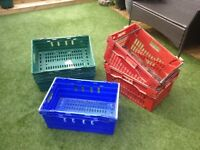 Heavy Duty Bale Arm Crates Boxes Storage Carboot Stackable