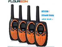 FOUR WALKIE-TALKIES 3-5 KLM RANGE NEW BOXED