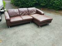 Corner leather sofa (free delivery)