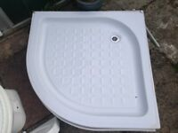 Used but in great condition bathroom items. Sink, toilet, curved shower unit, heated towel rail.