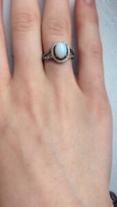 Ring from a charmed arorma bathbomb