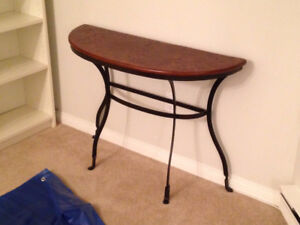 Wood/iron side table