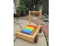 Toddlers' walker trolly