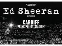 2 x Ed sheeran tickets Cardiff 21/06/2018