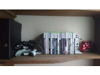 XBOX 360 SLim +5 Wireless contollers + Games