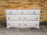 Shabby chic painted chest of drawers