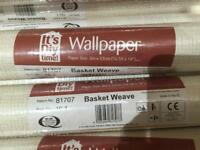 16 rolls of paintable textured wallpaper