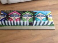 VW CAMPER VAN BEACH HUT CANVAS