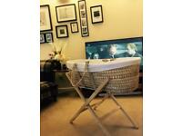 Clair du Lune Moses basket and stand