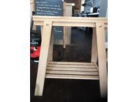 Adjustable height FINNVARD trestle table legs