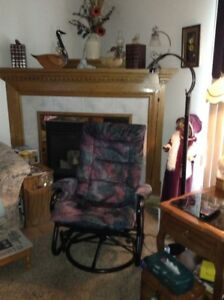 2 Glider, swevil chairs for sale. $200. each or 2 for $350.