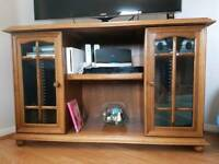 Wooden TV stand cabinet with CD racks
