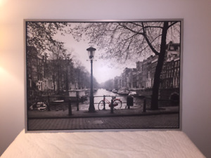 Amsterdam Poster with Frame