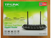 Dual Band Wireless Gigabit Cable Router TP-Link AC750 Archer C2 v1 - AS NEW