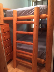 Log Bunk Bed (Double/Double) - $3000 (Yaletown)