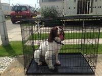 Large size dog cage and medium size dog cage