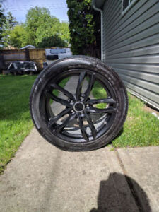 17'' Black Rims and Tires