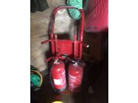 Trolly and fire extinguisher