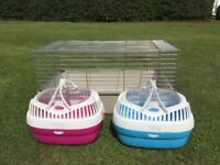 Rabbit indoor cage and small pet carriers