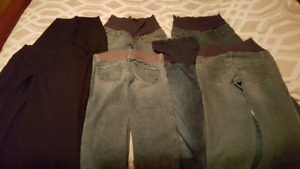 7 pairs of Size 4  maternity pants
